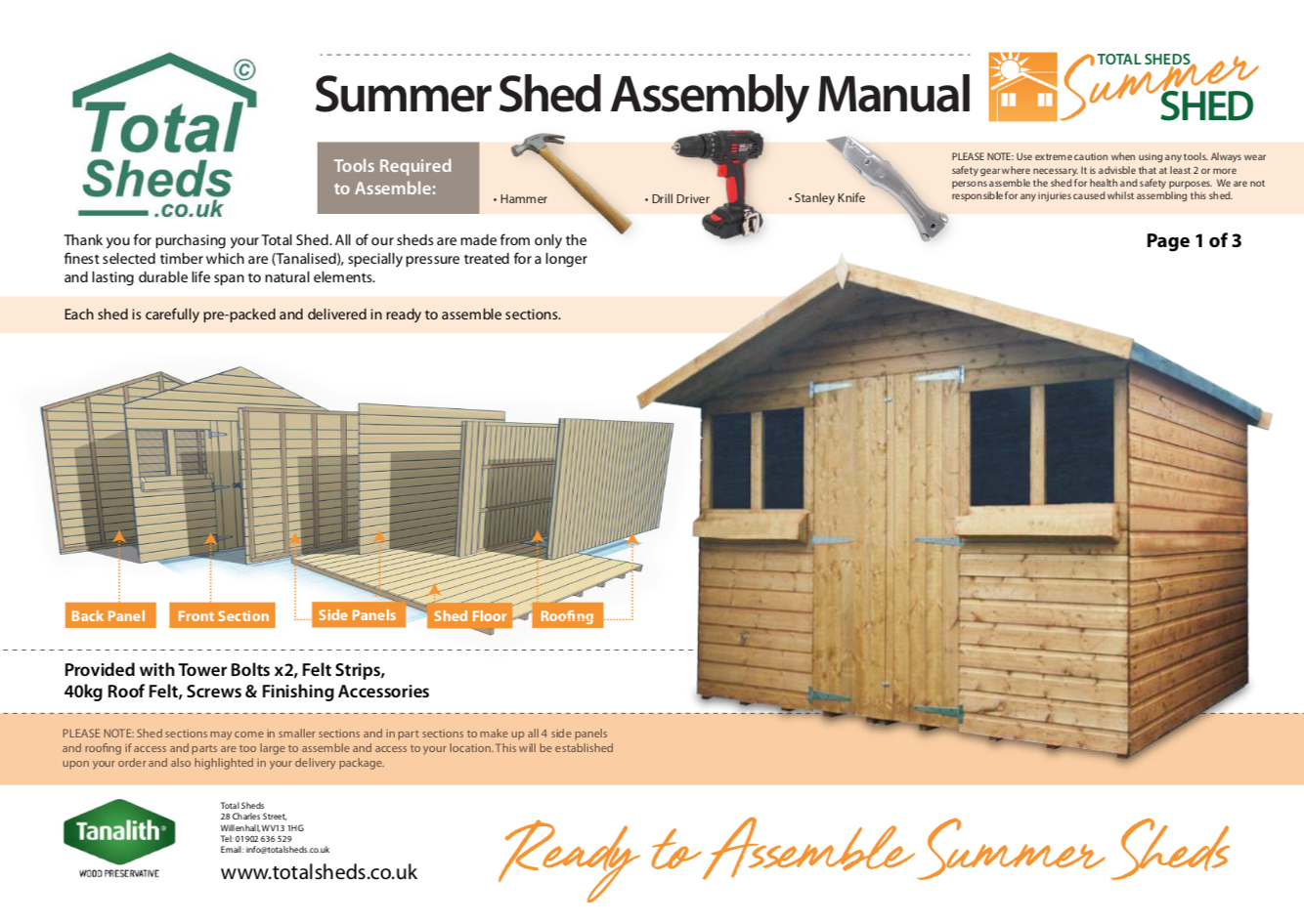 4ft Apex Shed Installation Guide