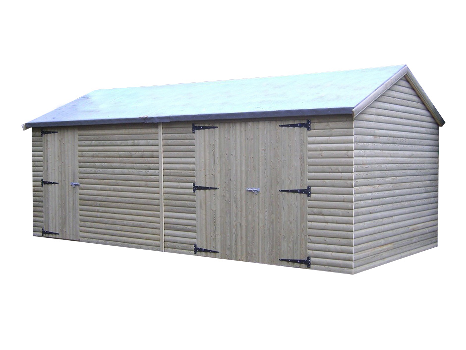 18ft X 10ft Heavy Duty Loglap Workshop