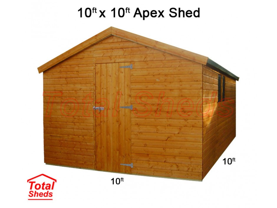 10ft X 10ft Apex Shed