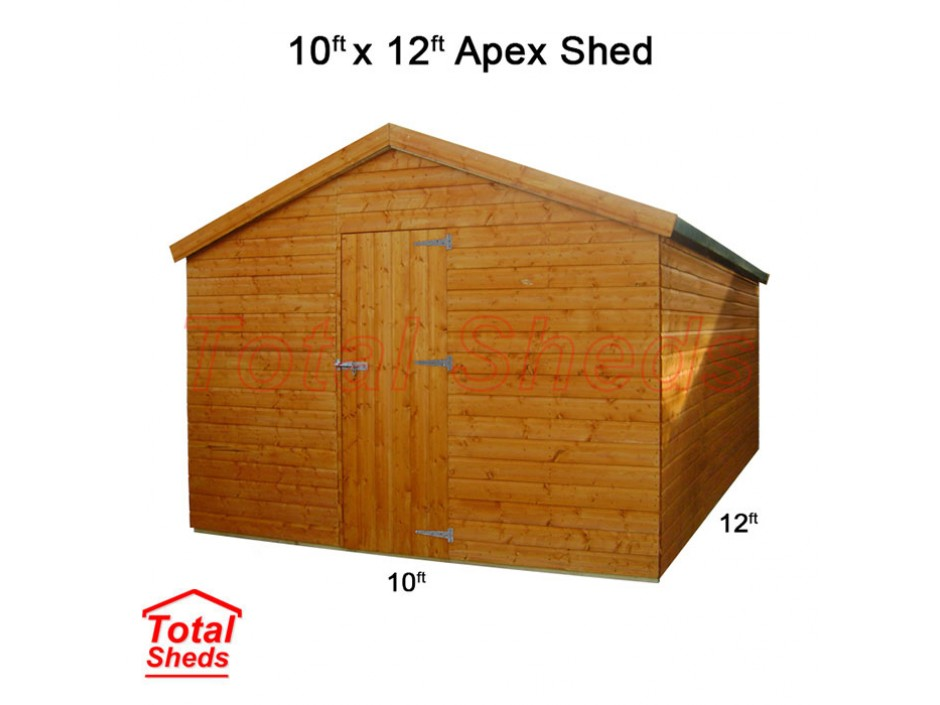 10ft X 12ft Apex Shed