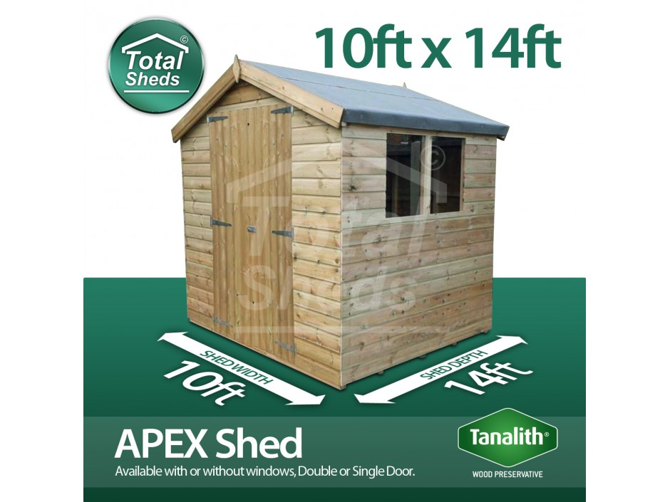 10ft X 14ft Apex Shed