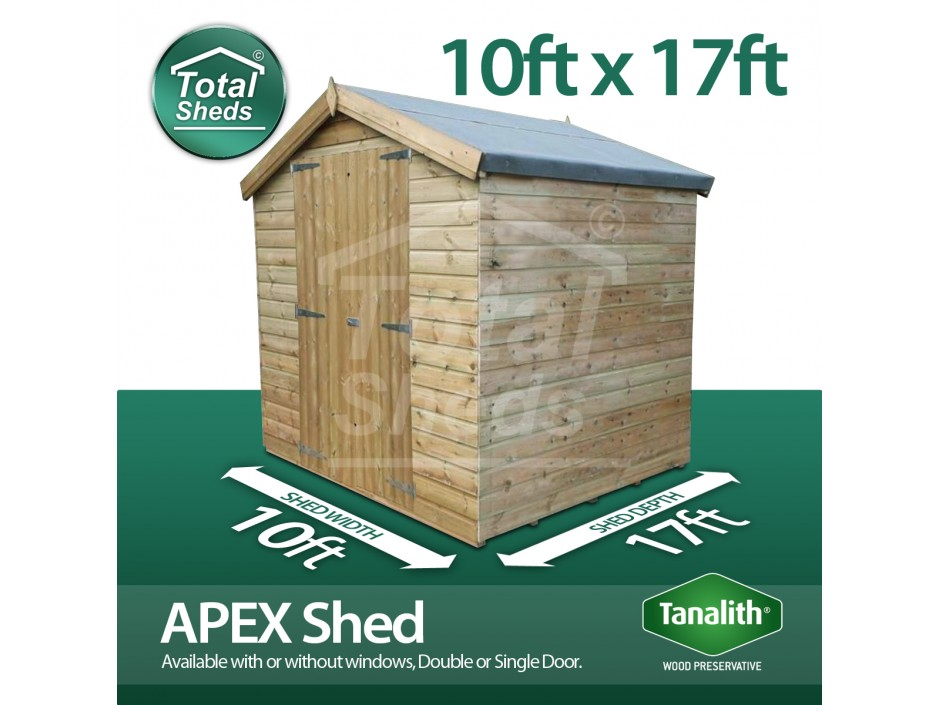 10ft X 17ft Apex Shed