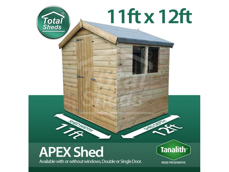 11ft X 12ft Apex Shed