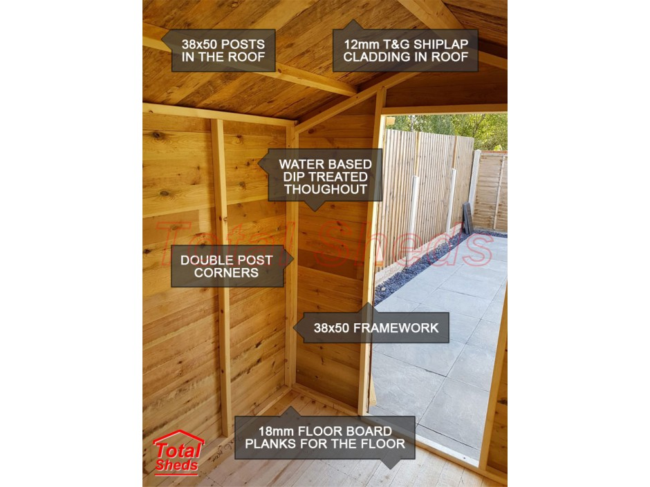 12ft X 8ft Apex Shed