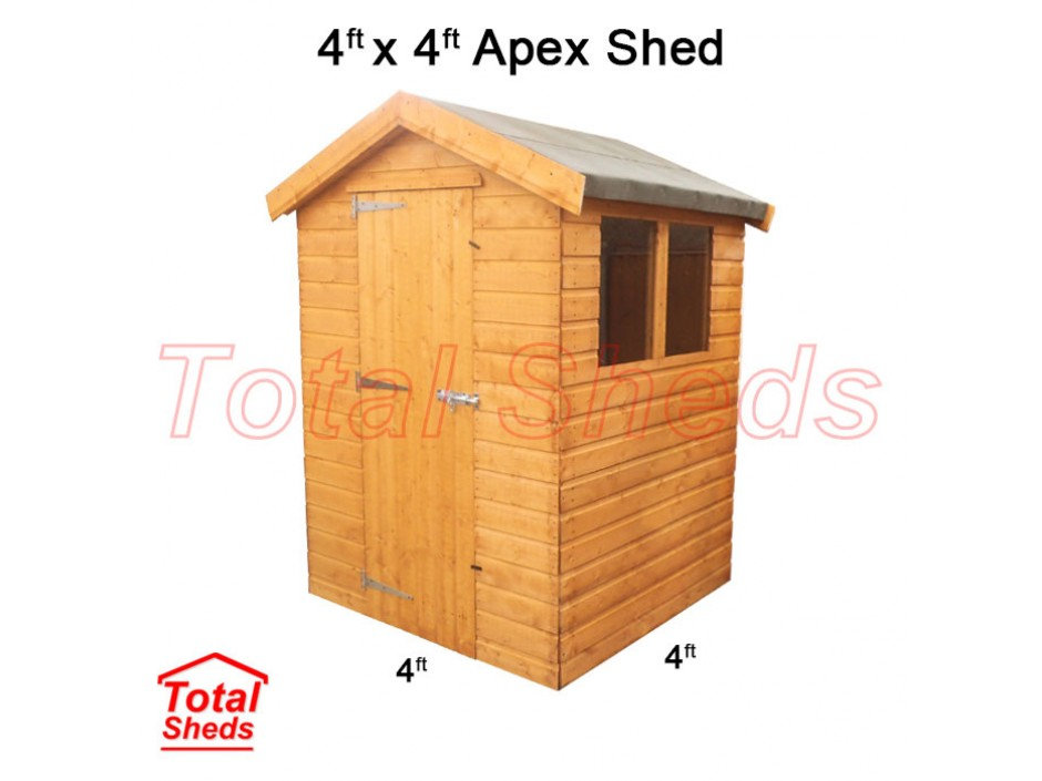 4ft X 4ft Apex Shed