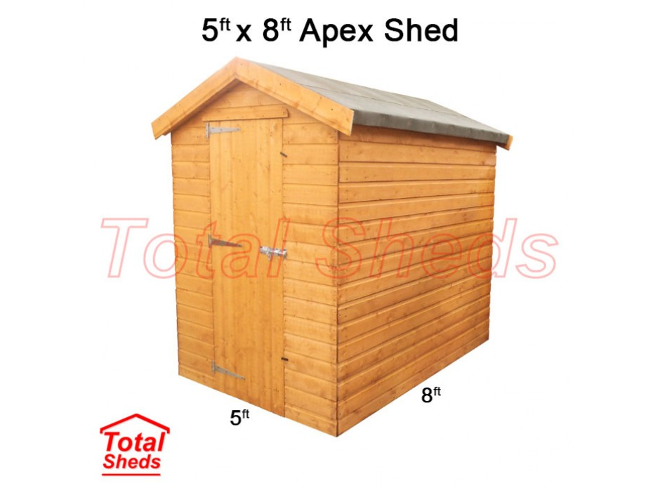 5ft X 8ft Apex Shed