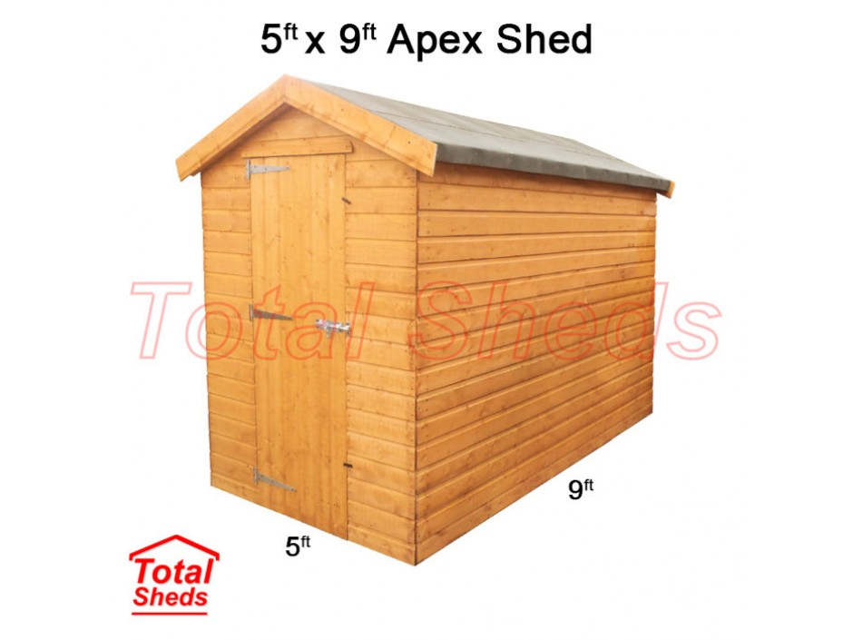 5ft X 9ft Apex Shed