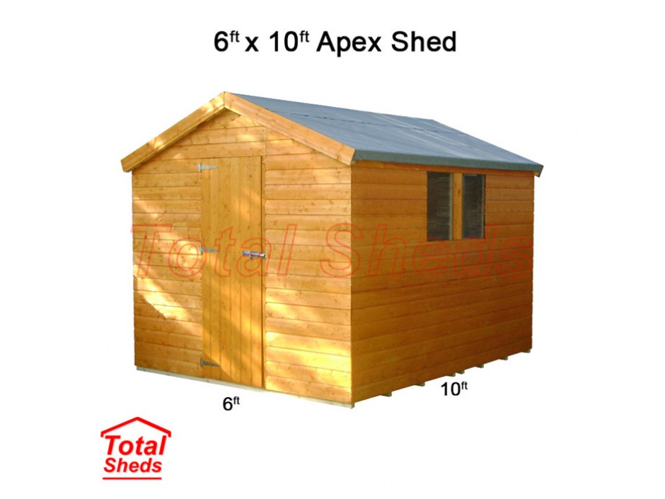 6ft X 10ft Apex Shed