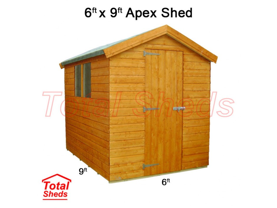 6ft X 9ft Apex Shed