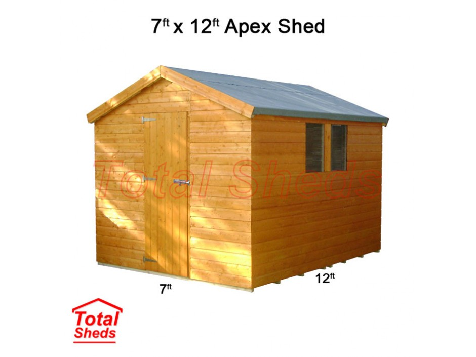 7ft X 12ft Apex Shed