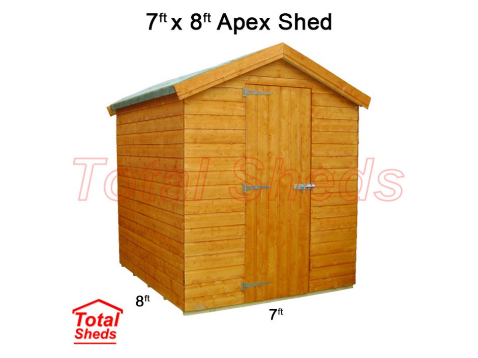 7ft X 8ft Apex Shed