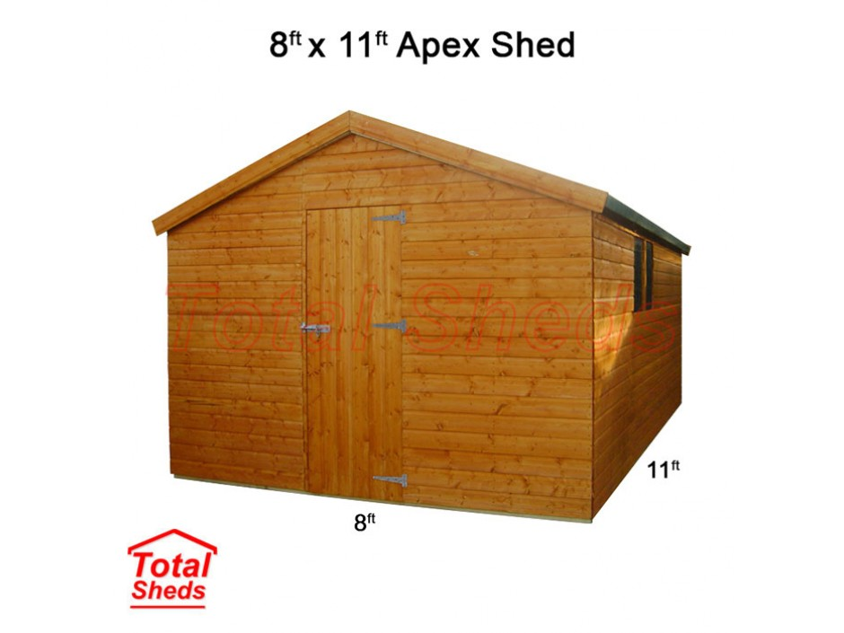8ft X 11ft Apex Shed