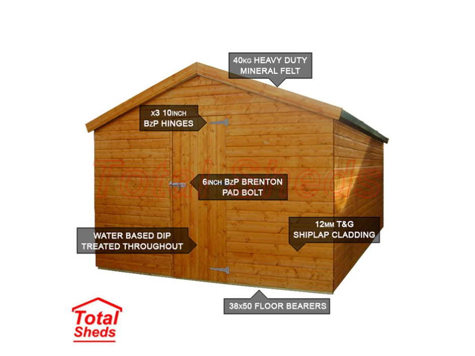8ft X 12ft Apex Shed