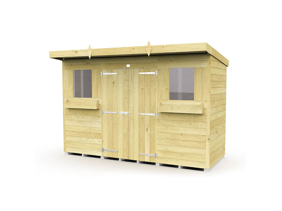 F&F 10ft x 4ft Pent Summer Shed