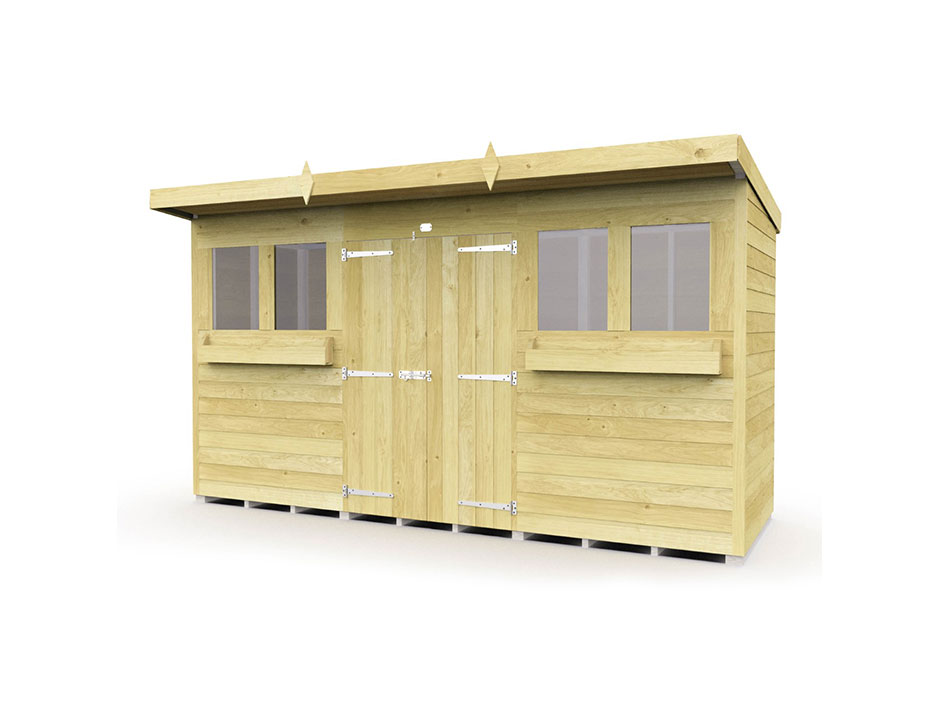 F&F 12ft x 4ft Pent Summer Shed