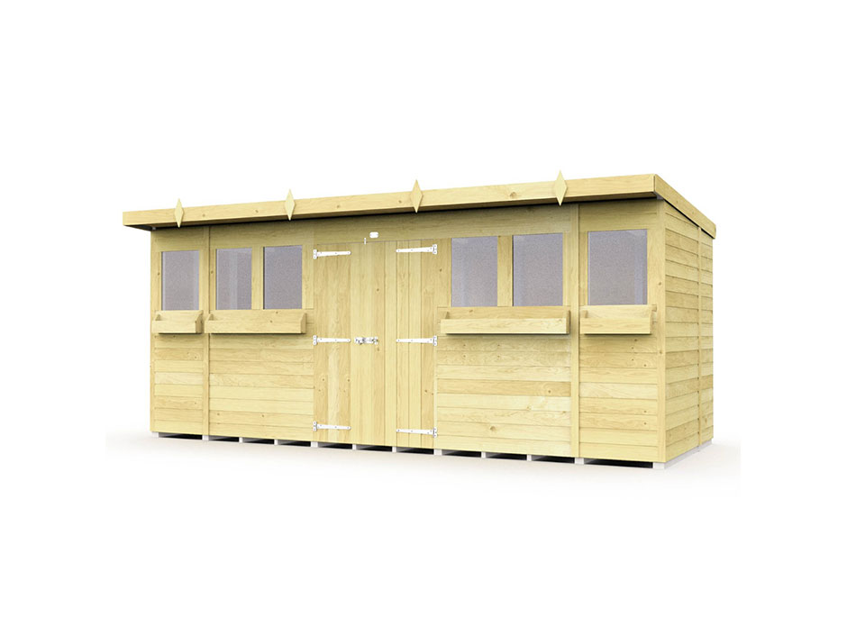 F&F 16ft x 6ft Pent Summer Shed