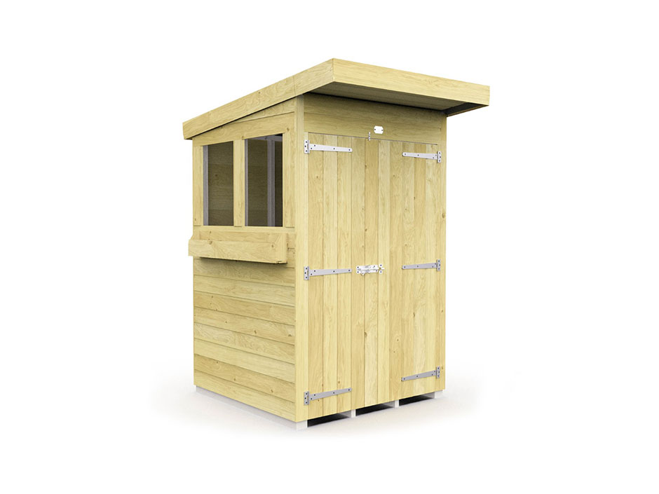 F&F 4ft x 4ft Pent Summer Shed