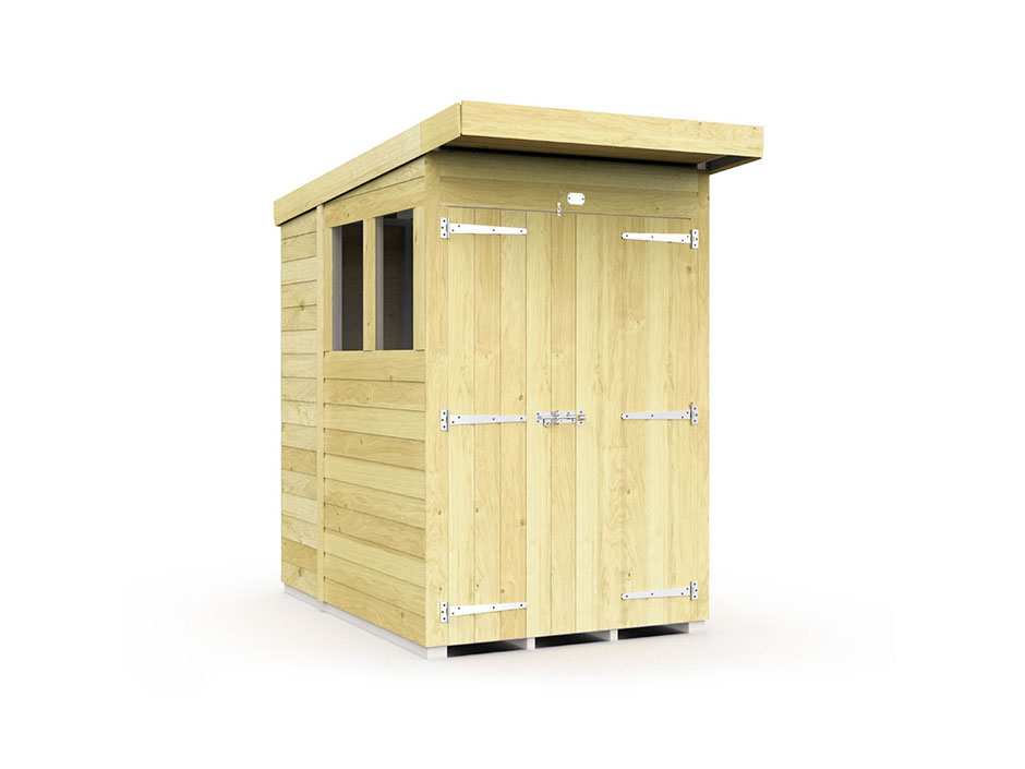 F&F 4ft x 6ft Pent Summer Shed