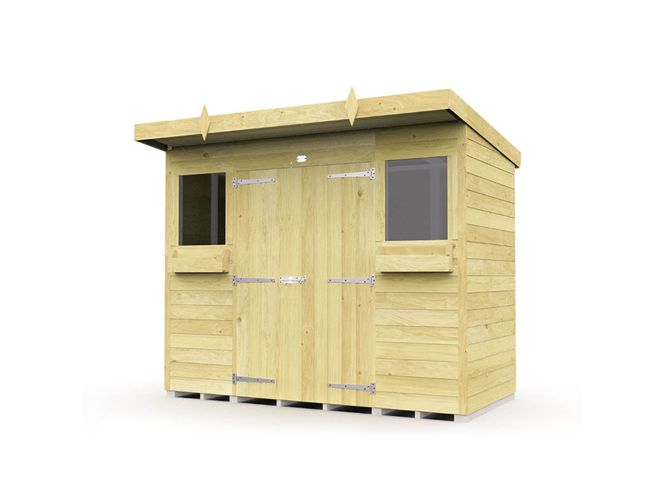 F&F 8ft x 4ft Pent Summer Shed