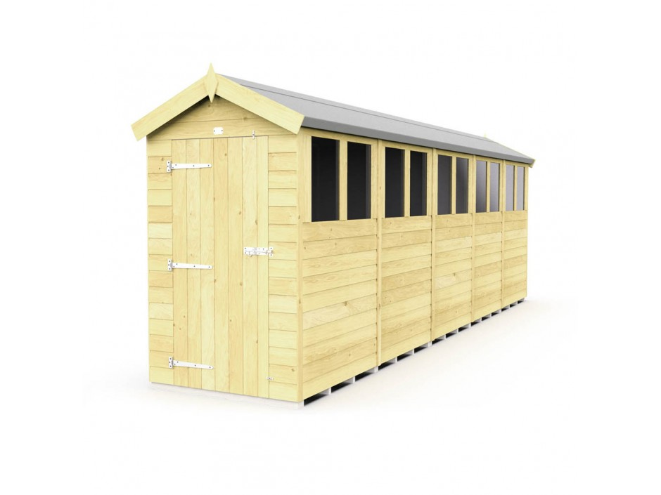F&F 4ft x 20ft Apex Shed