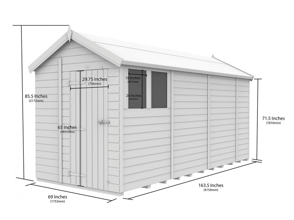 F&F 6ft x 14ft Apex Shed
