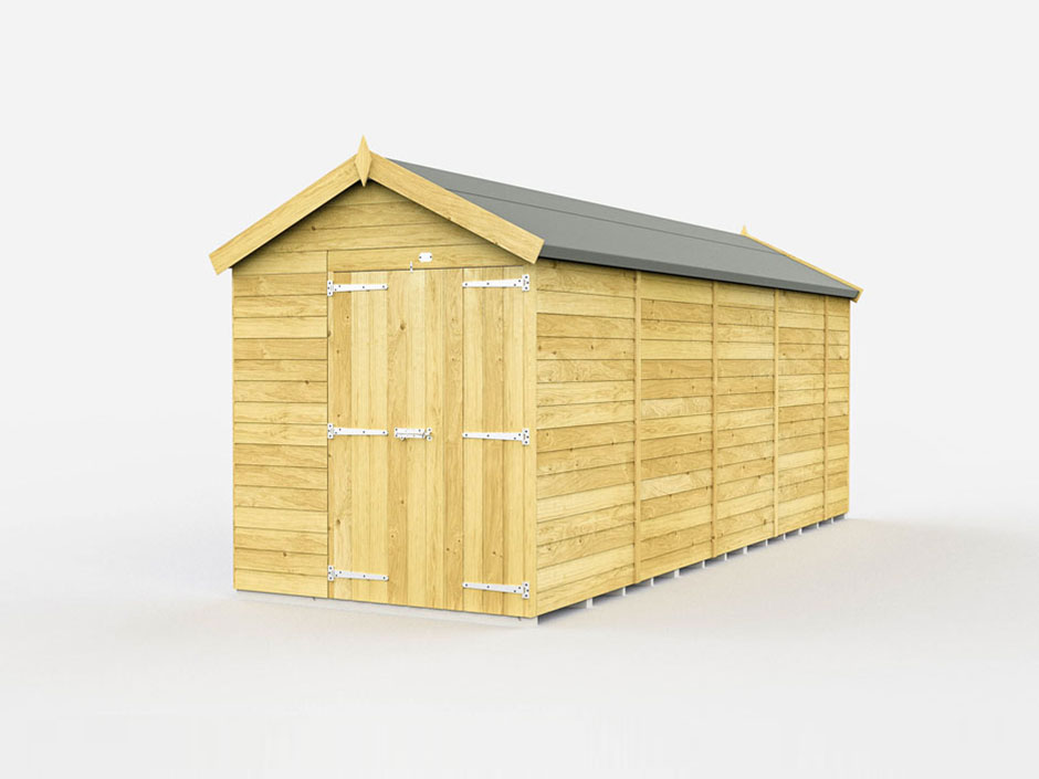 F&F 6ft x 18ft Apex Shed