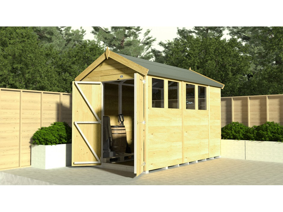 F&F 6ft x 12ft Apex Shed