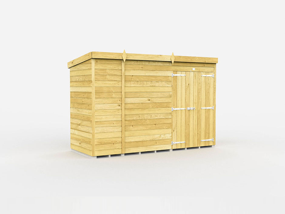F&F 4ft x 10ft Pent Shed