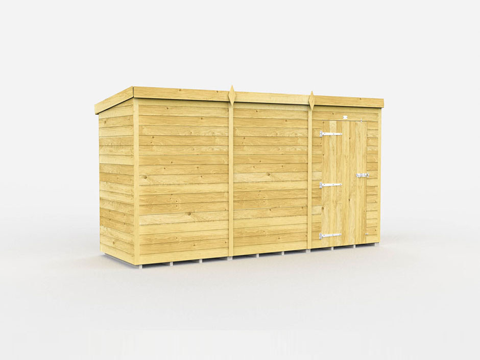 F&F 4ft x 12ft Pent Shed
