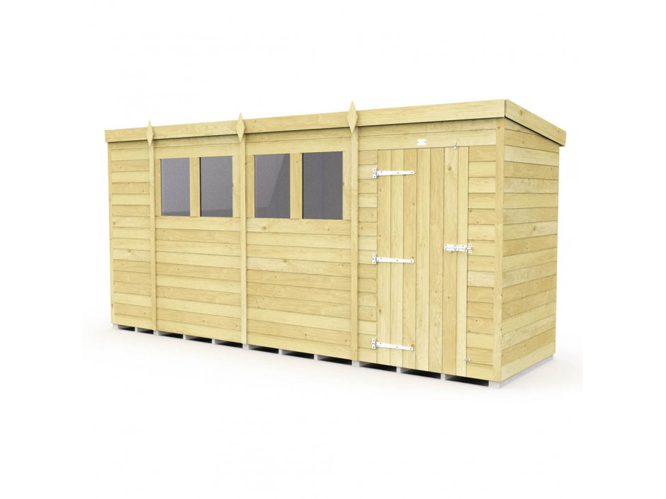 F&F 4ft x 14ft Pent Shed