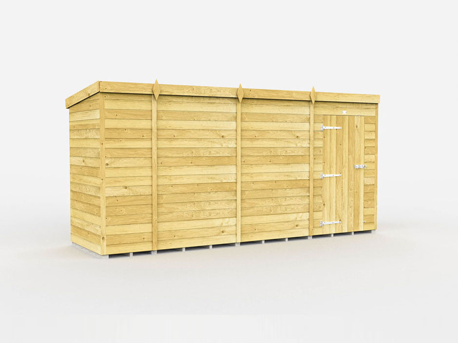 F&F 6ft x 14ft Pent Shed