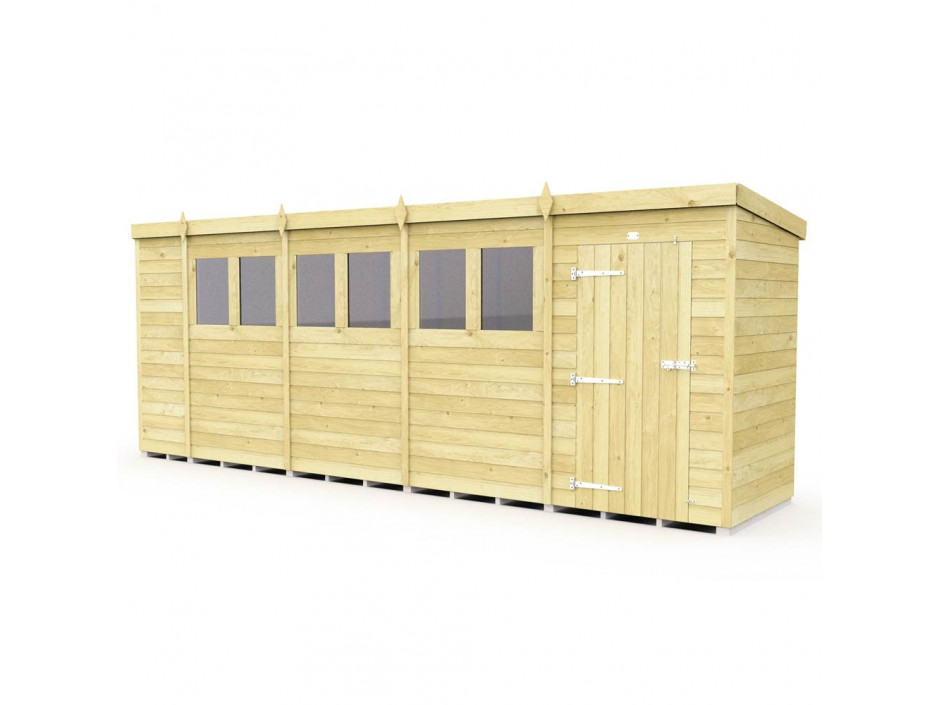 F&F 4ft x 18ft Pent Shed