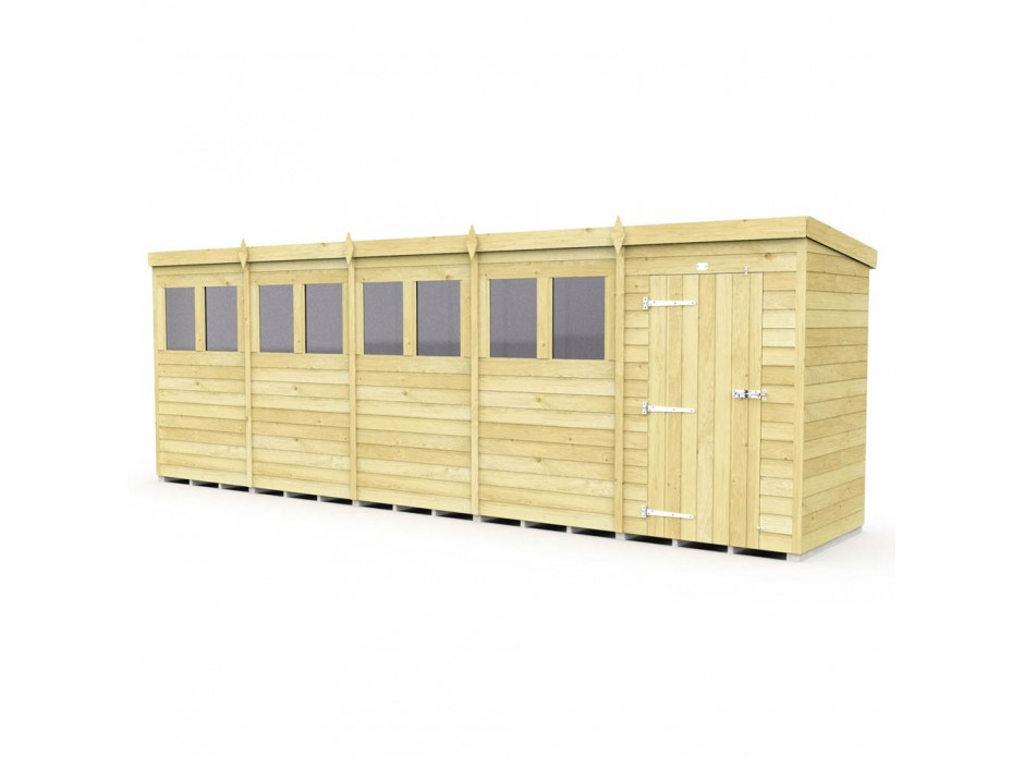 F&F 4ft x 20ft Pent Shed