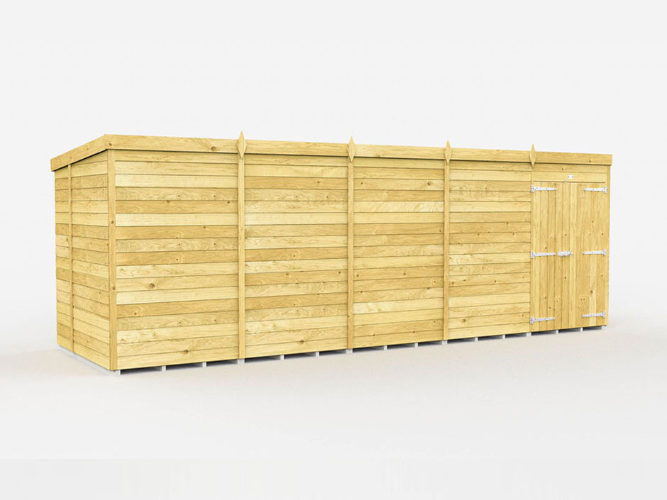 F&F 6ft x 20ft Pent Shed