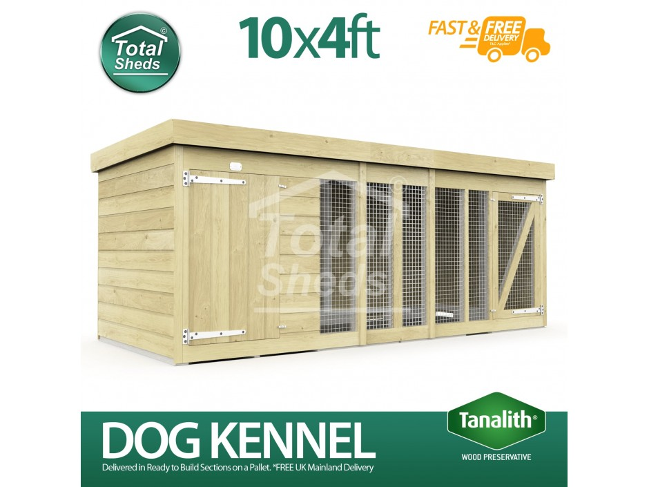 10ft X 4ft Dog Kennel and Run