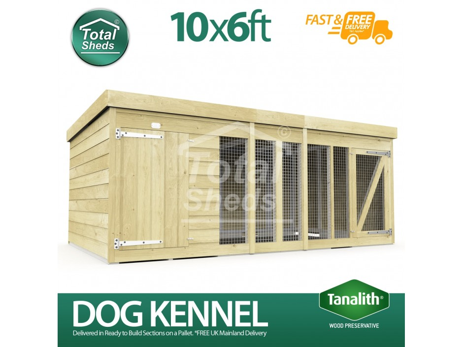 10ft X 6ft Dog Kennel and Run