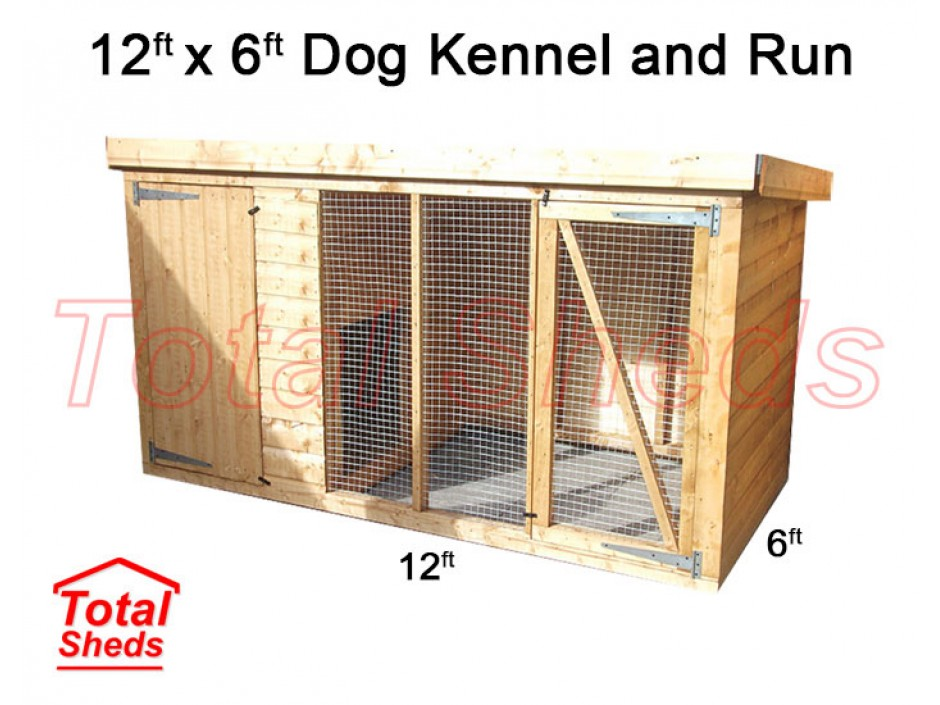12ft X 6ft Dog Kennel and Run