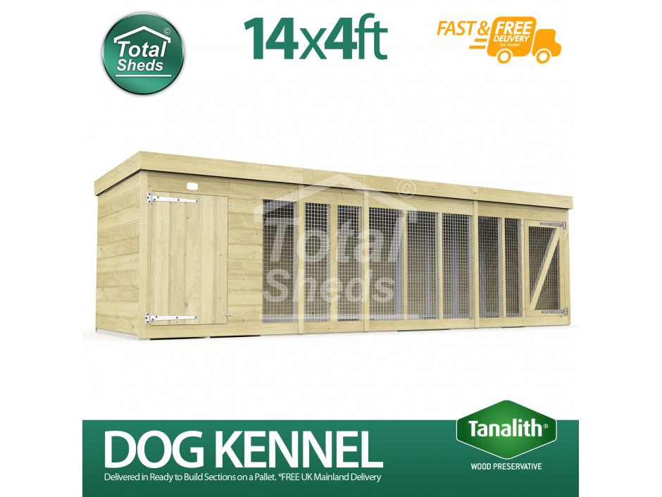 14ft X 4ft Dog Kennel and Run