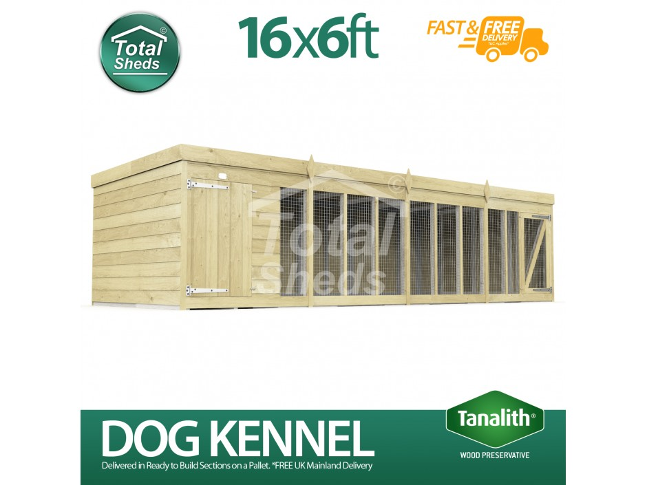 16ft X 6ft Dog Kennel and Run