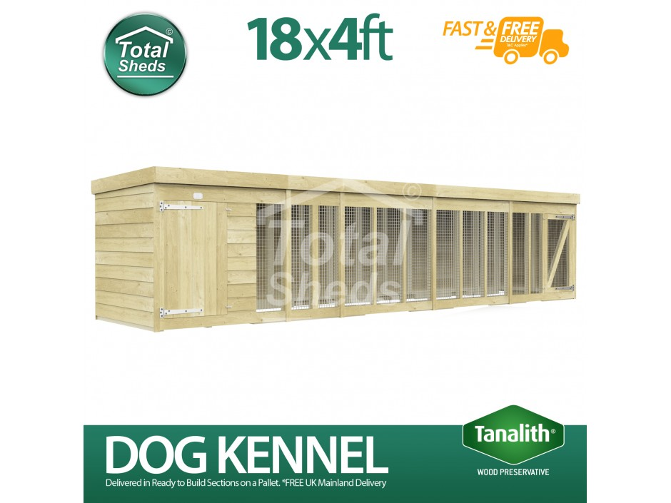 18ft X 4ft Dog Kennel and Run