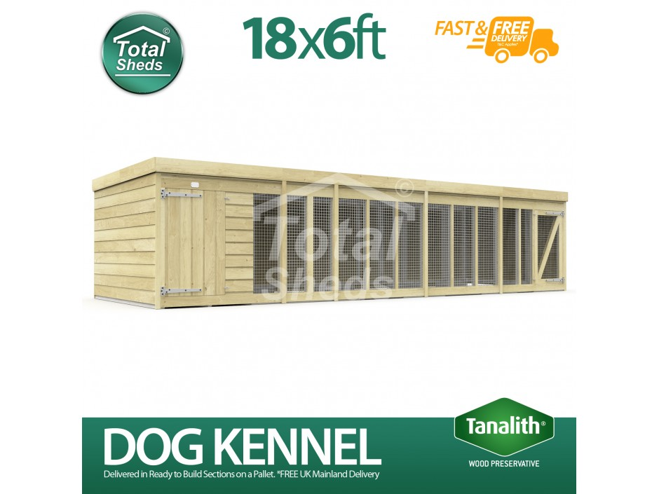 18ft X 6ft Dog Kennel and Run