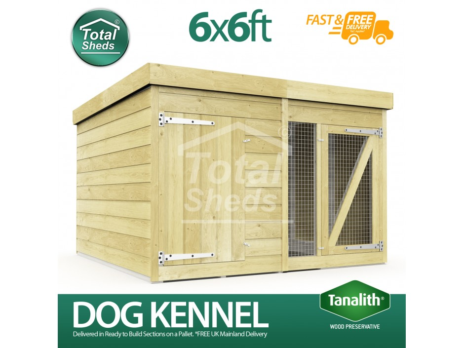 6ft X 6ft Dog Kennel and Run