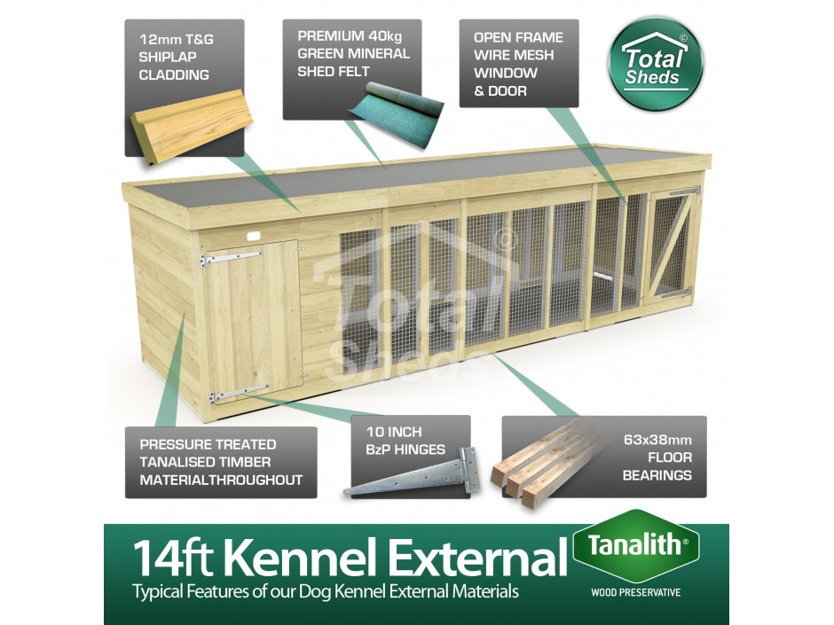 14ft X 6ft Dog Kennel and Run