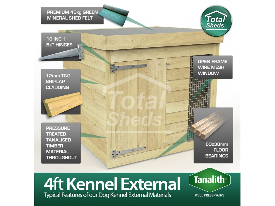4ft X 4ft Dog Kennel and Run