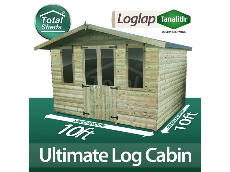 10ft X 10ft Log Cabin