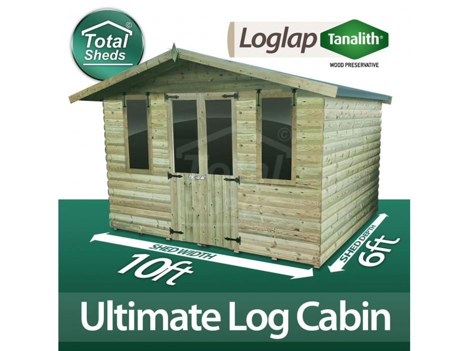10ft X 6ft Log Cabin
