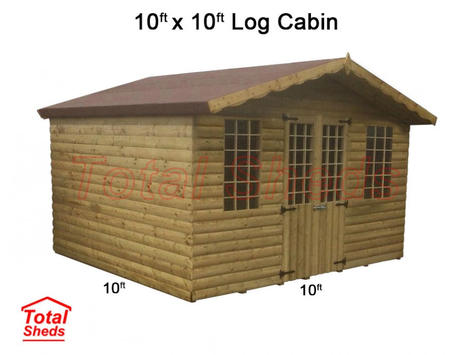 10ft X 10ft Ultimate Log Cabin