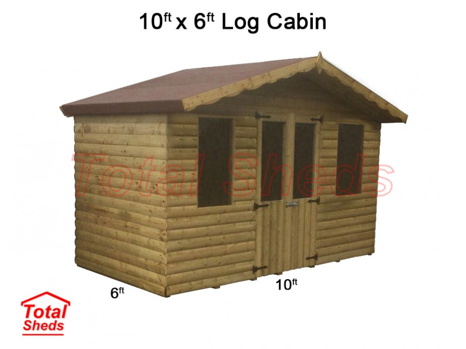 10ft X 6ft Ultimate Log Cabin