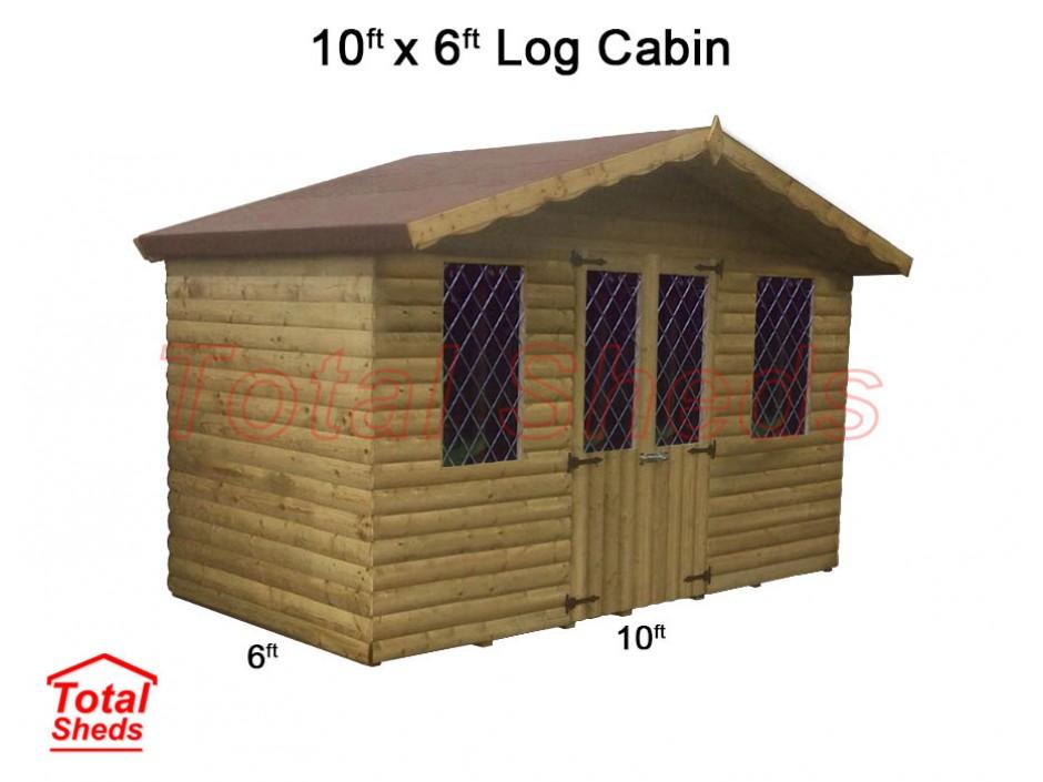 10ft X 6ft Ultimate Log Cabin