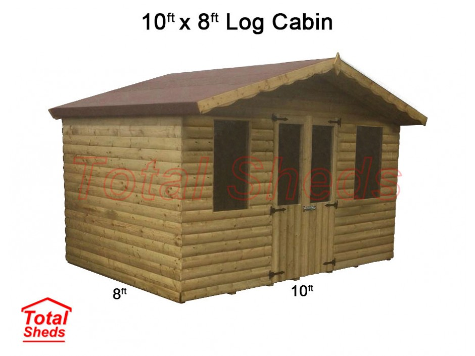 10ft X 8ft Ultimate Log Cabin